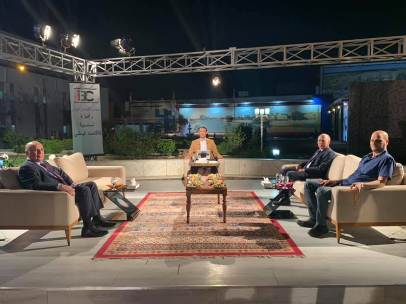 Deputy Prime Minister for Economic Affairs and Minister of Finance is conducting a television interview with a program under two lines with media Karim Hammadi 60910659_1674611009349886_7154217292274860032_n