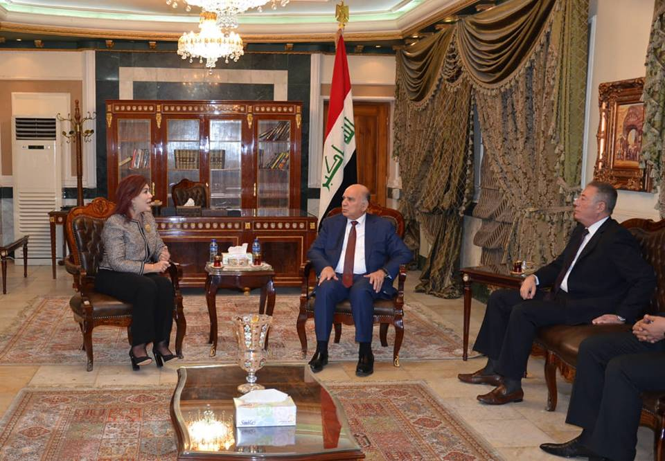 Deputy Prime Minister for Economic Affairs The Minister of Finance receives the Ambassador of the Hashemite Kingdom of Jordan in Baghdad and the Ambassador of the Republic of Iraq in Amman 45572592_499340047231083_6660605320944943104_n
