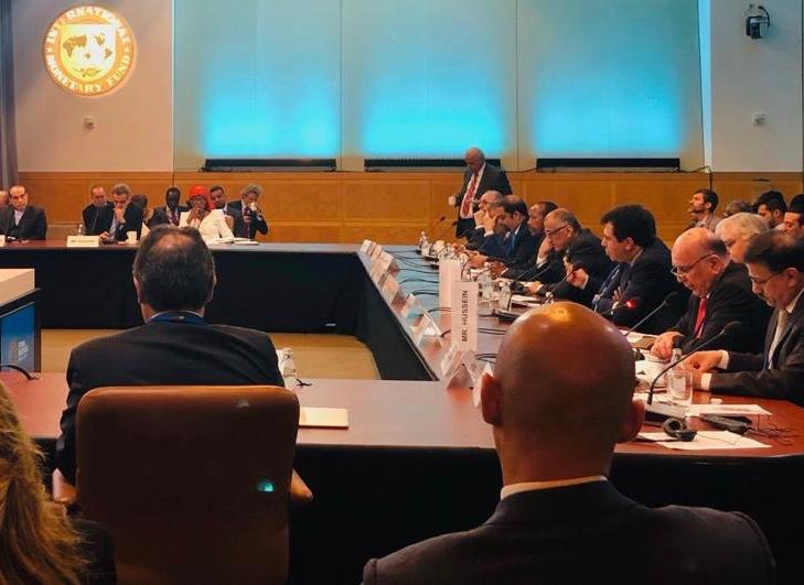 Iraq discusses with the World Bank its role in supporting economic growth and reconstruction ISGB3290