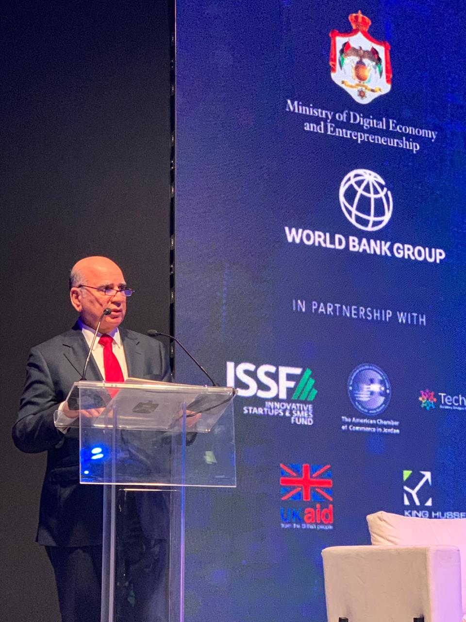 Deputy Prime Minister for Economic Affairs and Minister of Finance Mr. Fouad Hussein participates in the Digital Forum for the Arab Mashreq Countries in the Jordanian capital Amman 363c5d97-3a74-46fc-b974-b9d613f94667