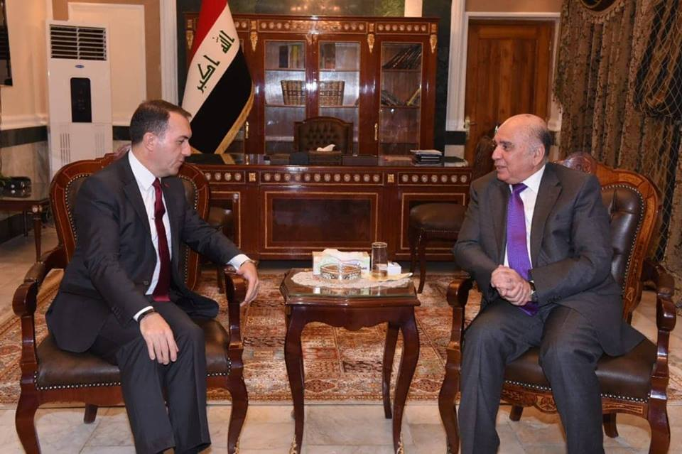 Deputy Prime Minister and Minister of Finance receives the Turkish Ambassador in Baghdad and his accompanying delegation 46212260_1796311700498057_3522772630476161024_n