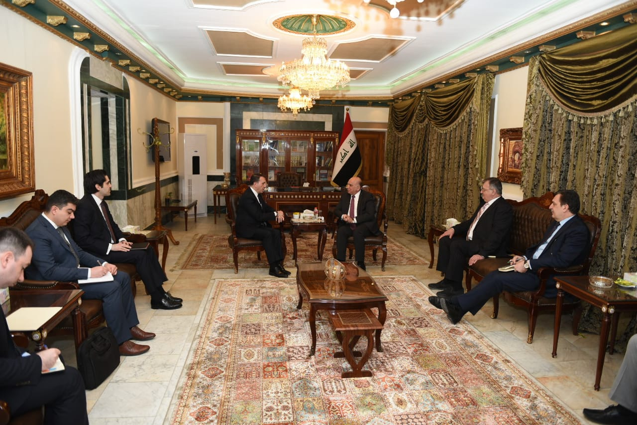 Iraq seeks to activate the strategic framework agreement in the field of trade and investment IMG-20190228-WA0040
