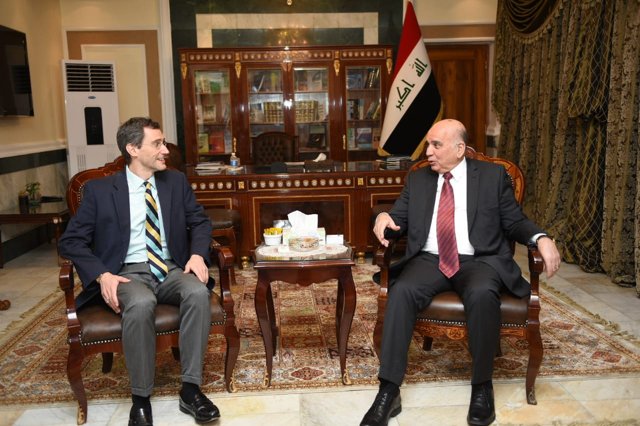 Iraq seeks to activate the strategic framework agreement in the field of trade and investment IMG-20190228-WA0041