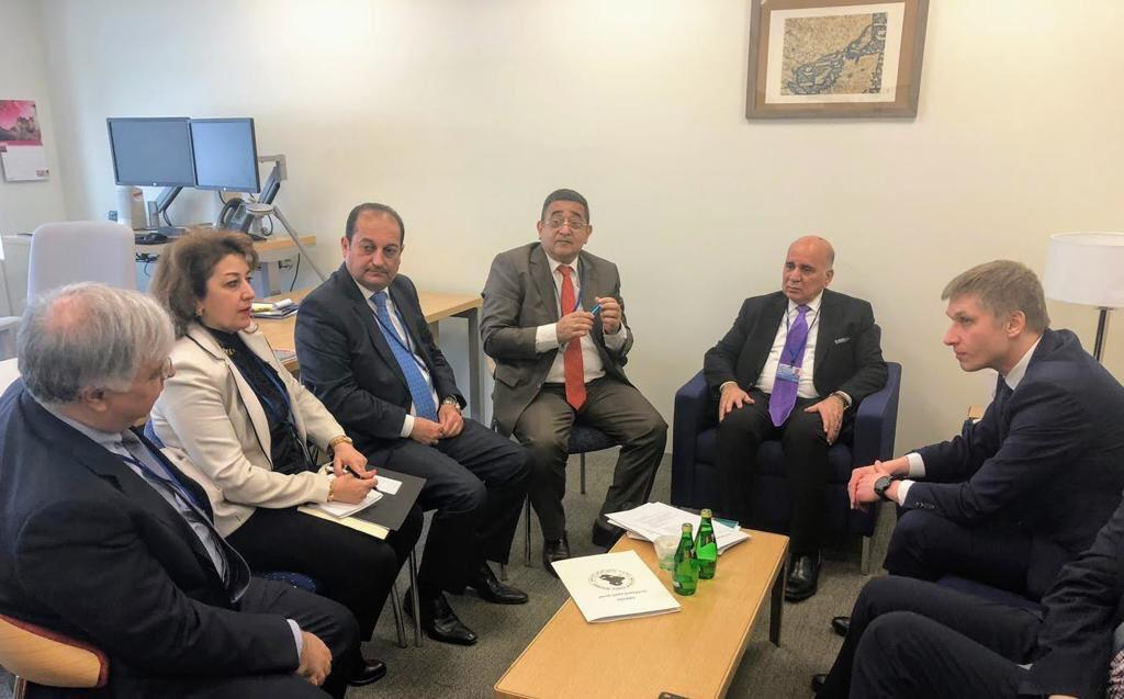 Iraq discusses with the World Bank its role in supporting economic growth and reconstruction IMG-20190414-WA0095