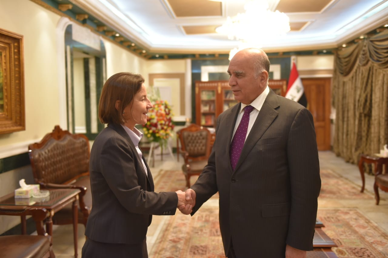 Deputy Prime Minister for Economic Affairs and Minister of Finance Mr. Fuad Hussein receives Dr. Joan Lundes Ambassador of Australia to Iraq WhatsApp%20Image%202019-03-05%20at%208.59.29%20PM