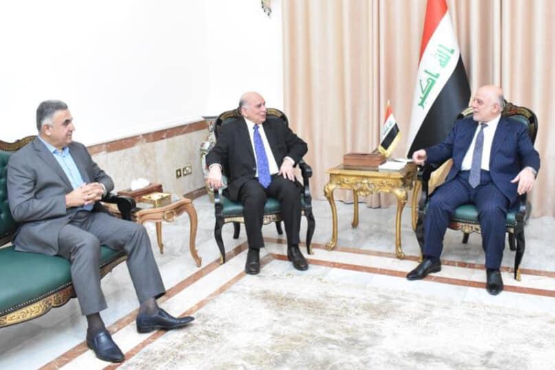 Dr. Haider Al Abadi receives Minister of Finance Dr. Fouad Hussein Dafa2d2a-b004-46d3-b236-56b9283238c3