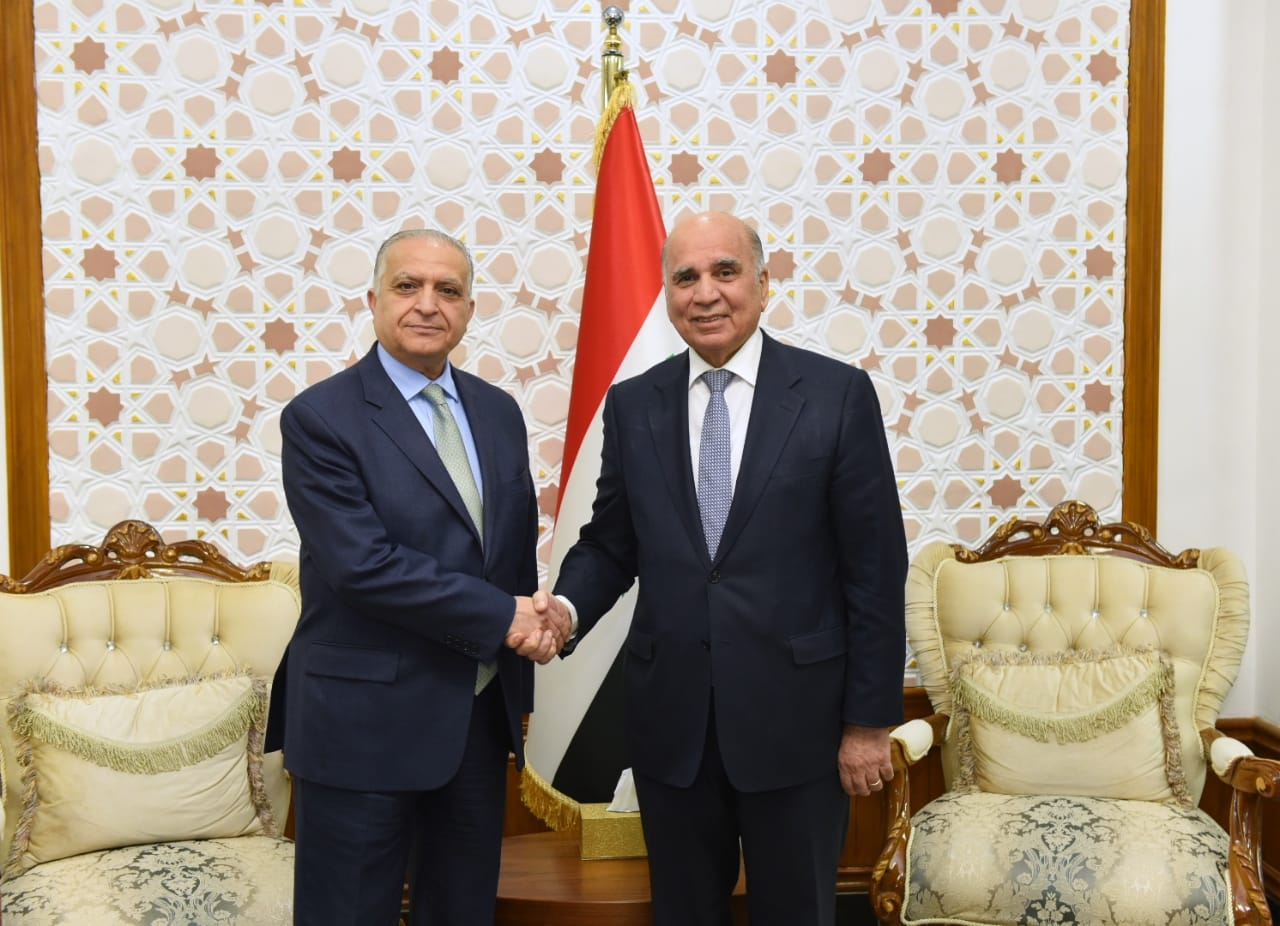 Deputy Prime Minister for Economic Affairs Minister of Finance receives Foreign Minister Mohammed Ali Al-Hakim E270a0d8-179a-4e9c-9f27-48bee1a4764e