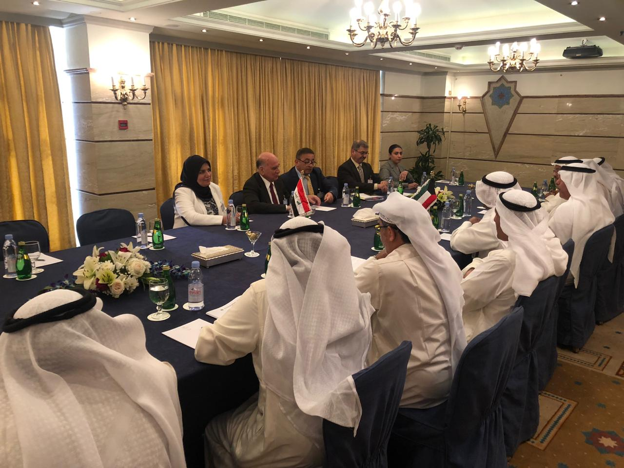 Deputy Prime Minister for Economic Affairs and Finance Minister Fuad Hussein meets with Kuwaiti Finance Minister Nayef Al Hajraf on the sidelines of the annual joint meetings of Arab financial institutions E351e1a8-9793-4977-b48c-45e4d42b285d