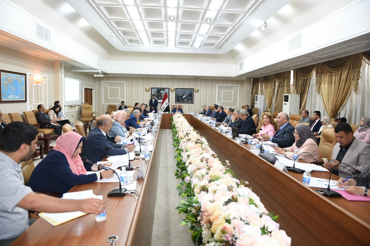 Deputy Prime Minister for Economic Affairs and Minister of Finance Mr. Fouad Hussein presides over the fifteenth meeting of the preparation of the State Budget Strategy 2020-2022 Fa76a913-f5d4-4f42-9f2a-15ca6b9ebd7f